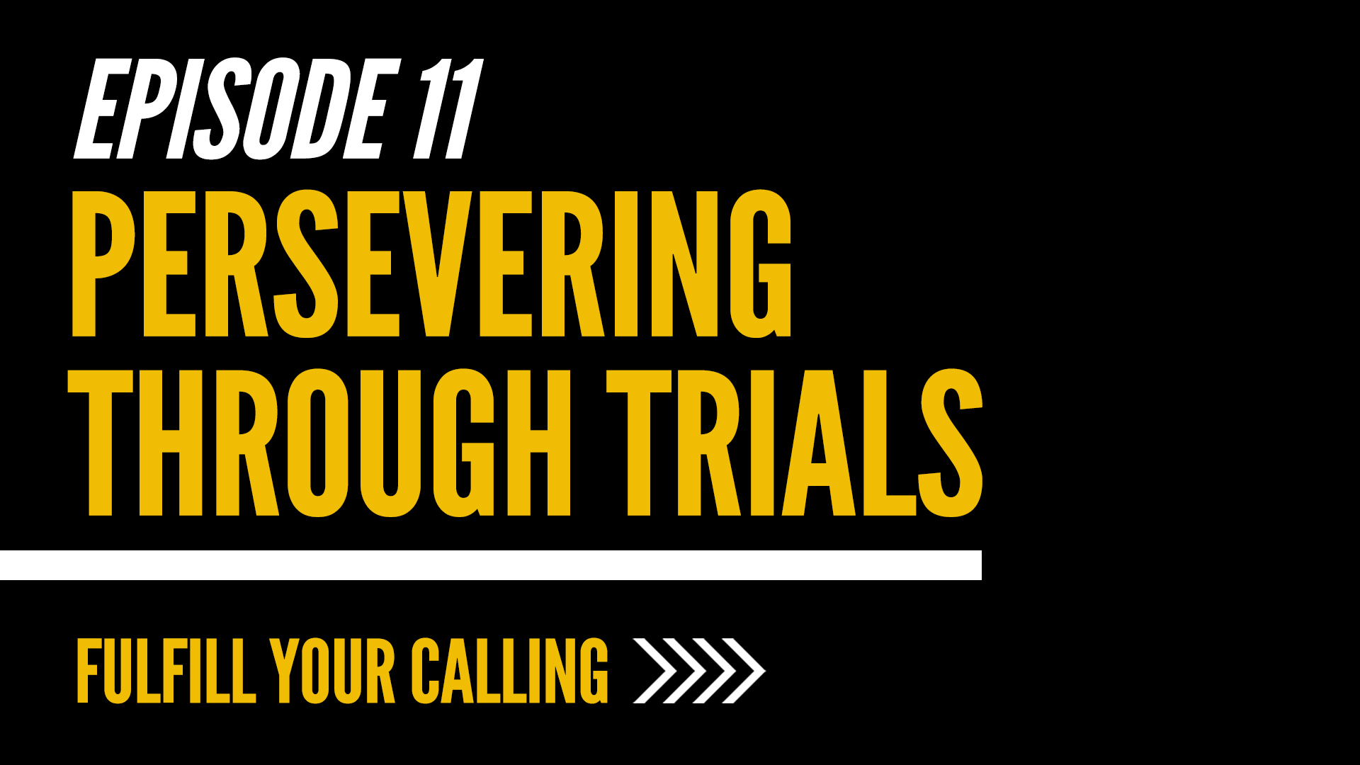 How to Fulfill Your Calling - Episode 11 with David Steele