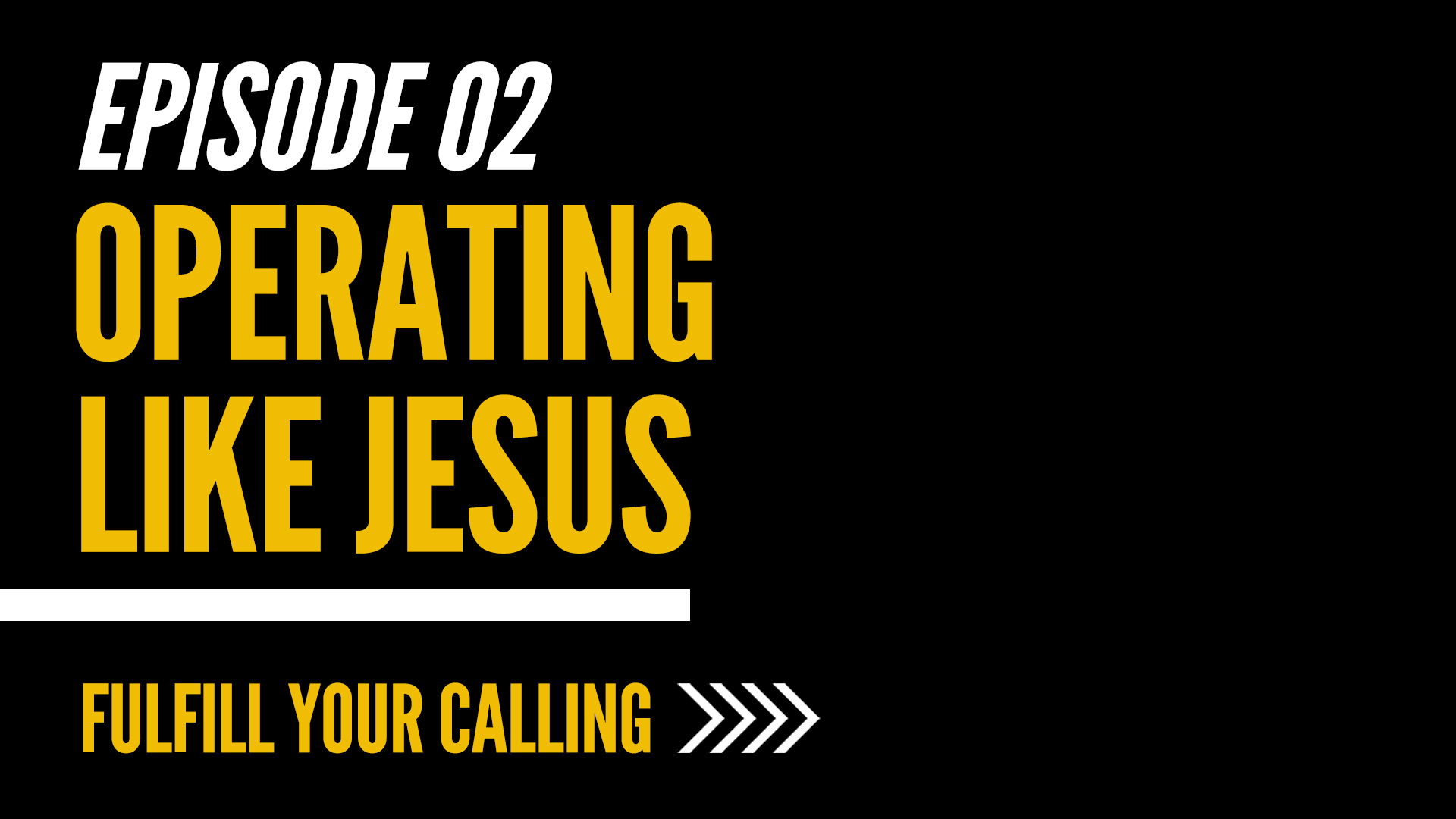 How to Fulfill Your Calling - Episode 2 with David Steele
