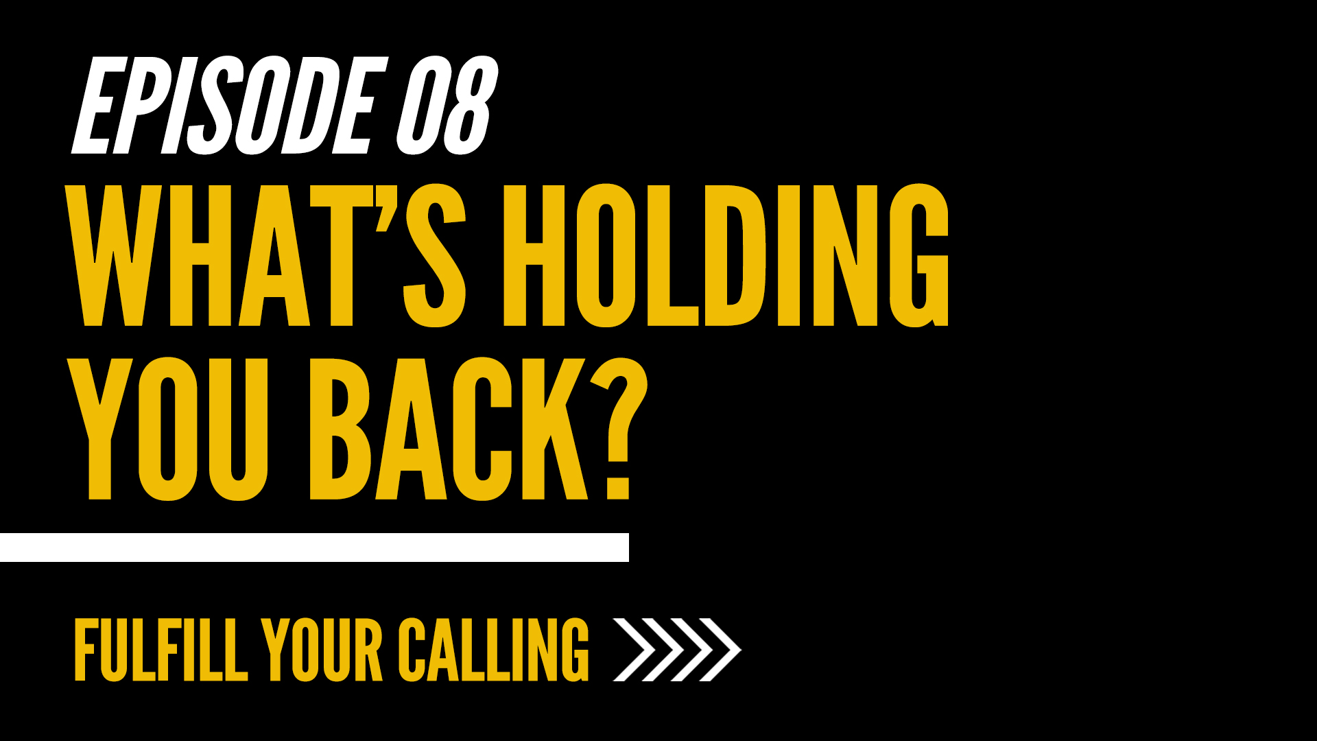 How to Fulfill Your Calling - Episode 8 with David Steele